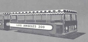 Los Angeles Zoo people mover, 1960's